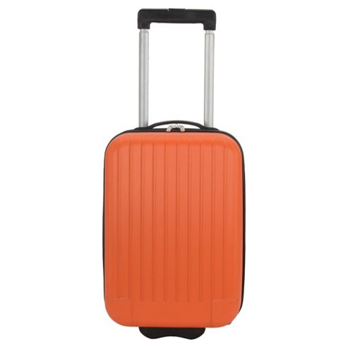 Tesco Hard Shell 2-Wheel Suitcase, Orange Small