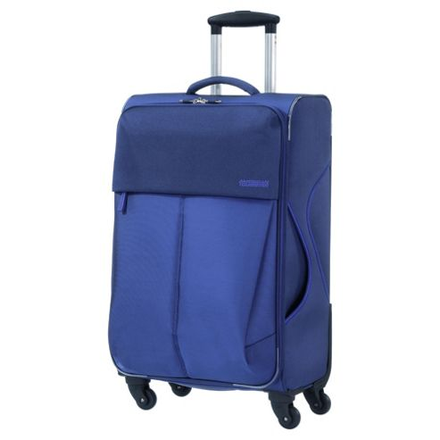 Samsonite American Tourister Genoa 4-Wheel Suitcase, Purple Small