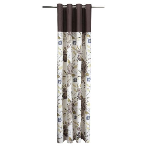 Tesco Jasmine Blossom Lined Eyelet Curtains W168xL137cm (66x54