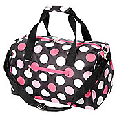 "Totes 16"" Grip Bag Holdall, Black with Spots"