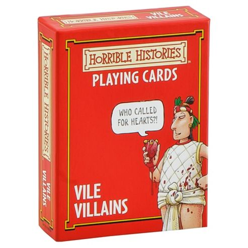 Horrible Histories Vile Villains Playing Cards Game