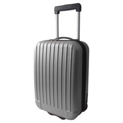 Tesco 2-Wheel Hard Shell Suitcase, Silver Small