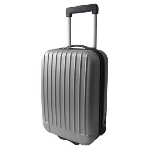 Tesco 2-Wheel Hard Shell Suitcase, Grey Small