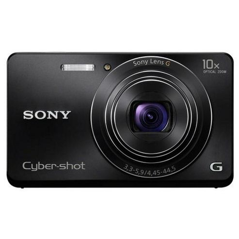 Sony Cyber-shot DSC-W690 16.1MP Digital Camera - Black.