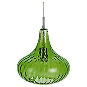 Tesco Lighting Lausanne Glass Pendant - Olive Green