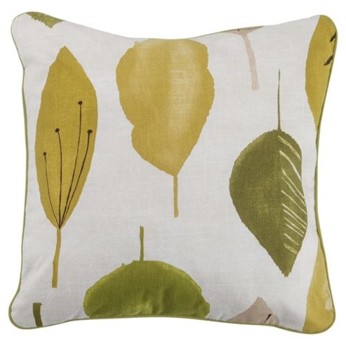 Tesco Cushions Watercolour Leaf Cushion, Green