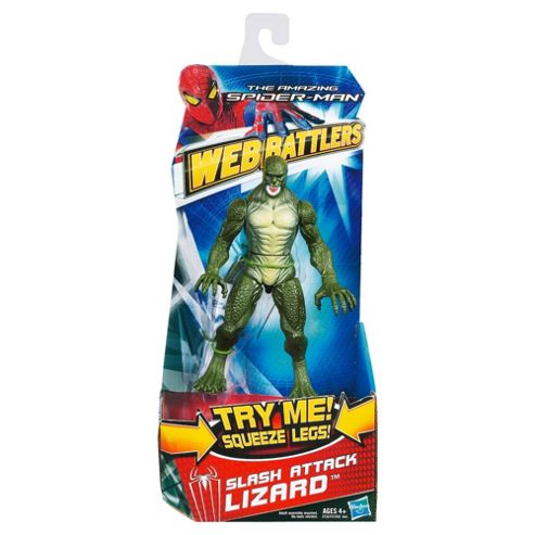 The Amazing Spider-Man Web Battlers Slash Attack Lizard Action Figure