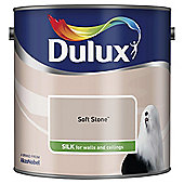 Dulux Silk Emulsion Paint, Soft Stone, 2.5L