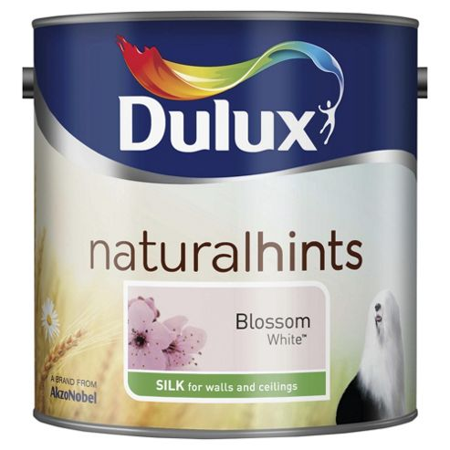 Dulux Silk Emulsion Paint, Blossom White, 2.5L