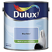 Dulux Silk Emulsion Paint, Blue Babe, 2.5L