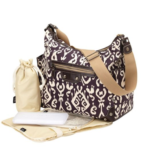 OiOi Ikat Tapestry Demitasse Hobo Changing Bag