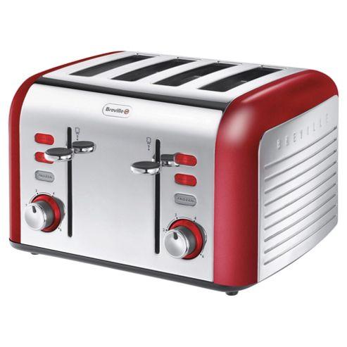 buy breville opula vtt332 4 slice toaster carnelian red. Black Bedroom Furniture Sets. Home Design Ideas