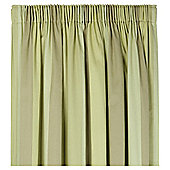 "Tesco Hampton Stripe Pencil Pleat Unlined Curtains W167xL229cm (66x90""), Green"