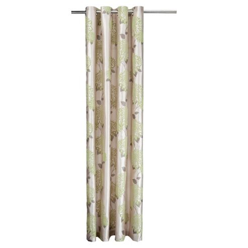Tesco Amelia Flock Lined Eyelet Curtains W163xL183cm (64x72