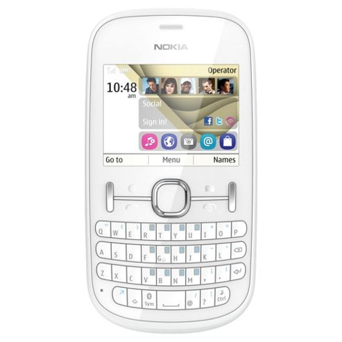 Tesco Mobile Nokia Asha 201 White