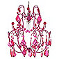 Tesco Lighting Olivia Chandelier Pendant - Pink