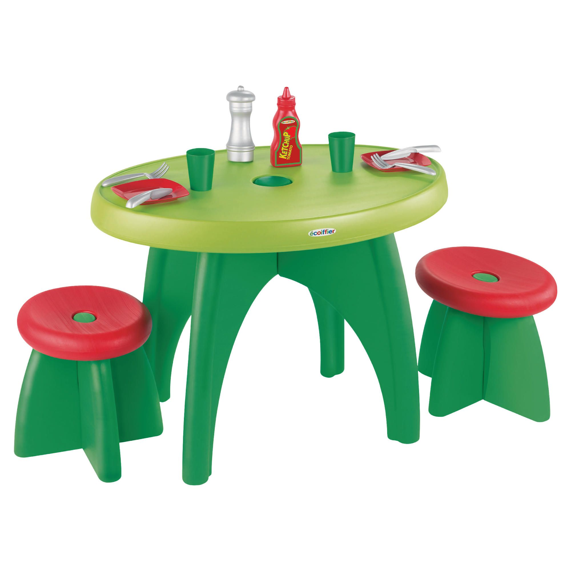 Ecoiffier Picnic Table & Two Stools