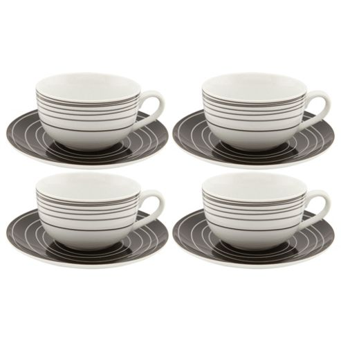 Tesco Atlanta Set of 4 Cups and Saucers
