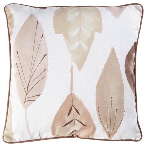 Tesco Cushions Watercolour Leaf Cushion, Natural