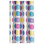 Croydex Textured Dots Textiles  Shower Curtain