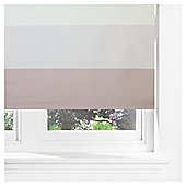 Horizontal Stripe Blackout Roller Blind 90cm Mocha