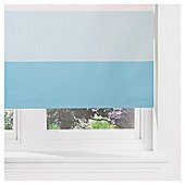 Horizontal Stripe Blackout Roller Blind 60cm Duck Egg