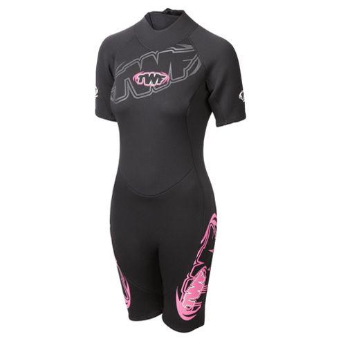 TWF Shortie Women's 2.5mm Wetsuit 14 Pink