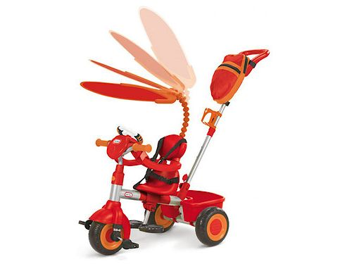 Little Tikes 3-In-1 Ride-On Trike With DiscoverSounds® Dashboard, Red/Orange
