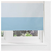 Horizontal Stripe Blackout Roller Blind 180cm Duck Egg