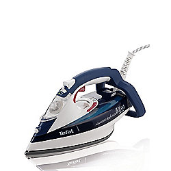Tefal FV5370 Aquaspeed Anti-Drip Iron with Ceramic Plate, White and Blue