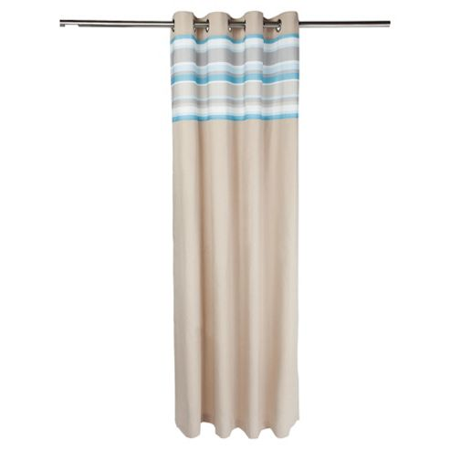 Tesco Brighton Stripe Lined Eyelet Curtains W163xL229cm (64x90