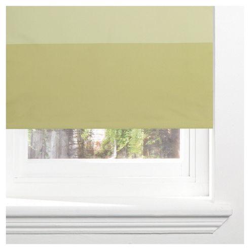Sunflex Horizontal Stripe Blackout Roller Blind 60cm Green