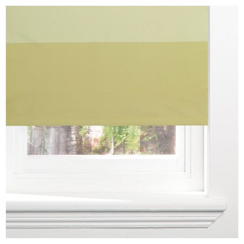 Horizontal Stripe Blackout Roller Blind 90cm Green