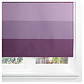 Sunflex Horizontal Stripe Blackout Roller Blind 90cm Plum