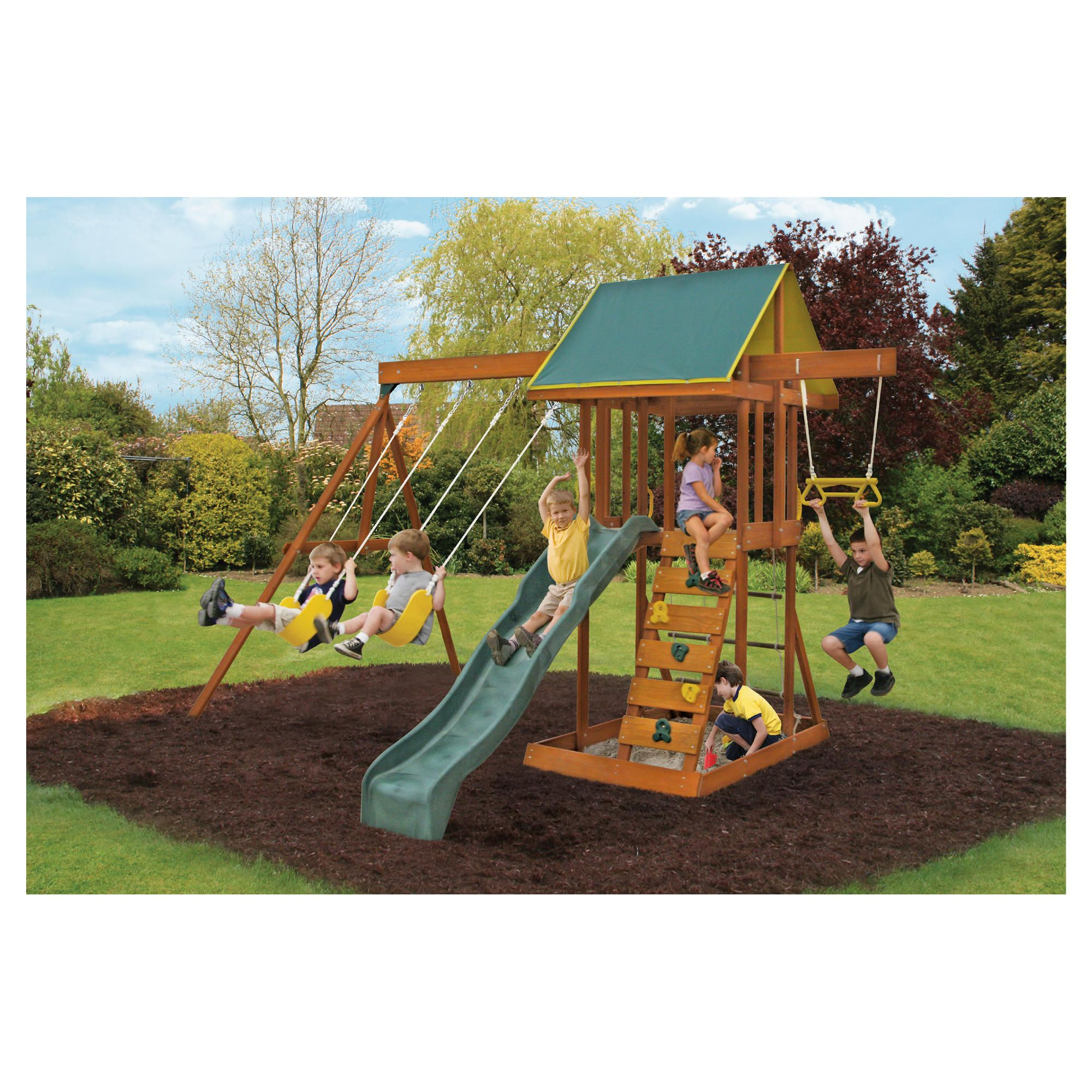 Selwood Meadowvale Wooden Playset at Tesco Direct