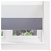 Horizontal Stripe Blackout Roller Blind 90cm Charcoal