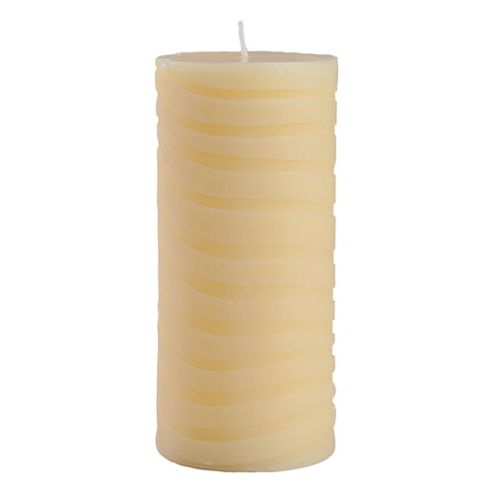 F&F Home Celadon leaf pillar candle 7*15