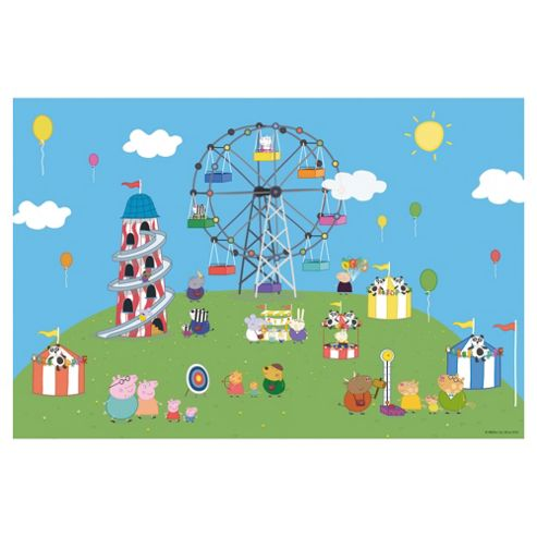 Jumbo Games Peppa Pig 24 Piece Jigsaw Puzzle & Colour Bag (Incl. Crayons)