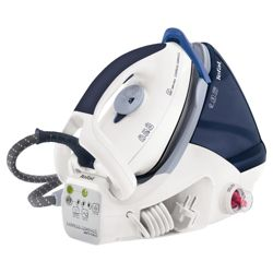 Tefal GV7096 ultra compact Iron with Ceramic Plate - White/Blue