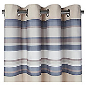 Tesco Brighton Stripe Lined Eyelet Curtains - Charcoal