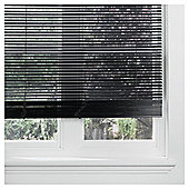 Wood Venetian Blind Black 150cm 25mm 160cm Drop