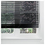 Wood Venetian Blind Black 180cm 25mm 152cm Drop