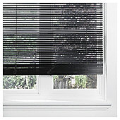 Wood Venetian Blind Black 60cm 25mm 210cm Drop