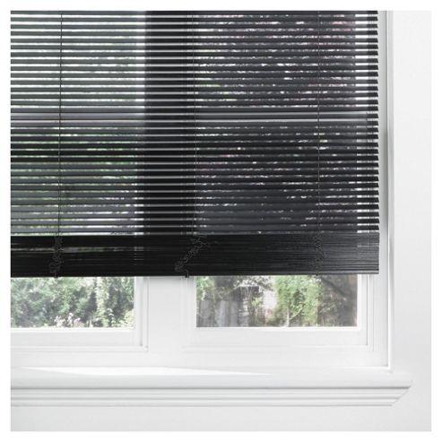 Sunflex Wood Venetian Blind Black 60cm 25mm 210cm Drop
