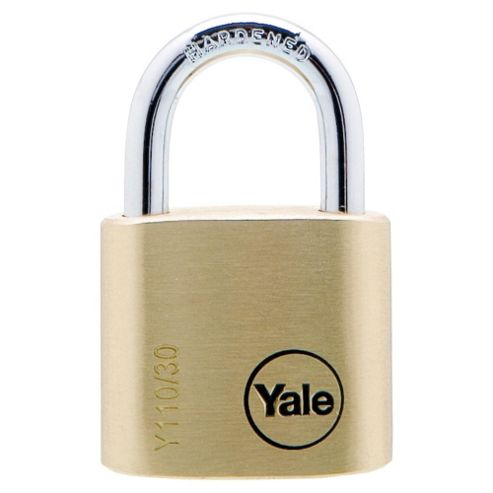 Yale 30mm Brass Padlock PK2