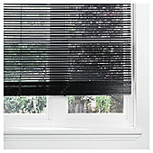 Wood Venetian Blind Black 105cm 25mm slats Drop 152cm