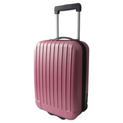 Tesco 2-Wheel Hard Shell Suitcase, Pink Small