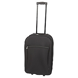Tesco 2-Wheel Suitcase, Black Medium