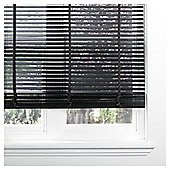 Wood Venetian Blind Black 90cm 35mm 160cm Drop