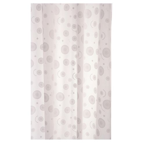 Croydex Round Circles Textile Shower Curtain